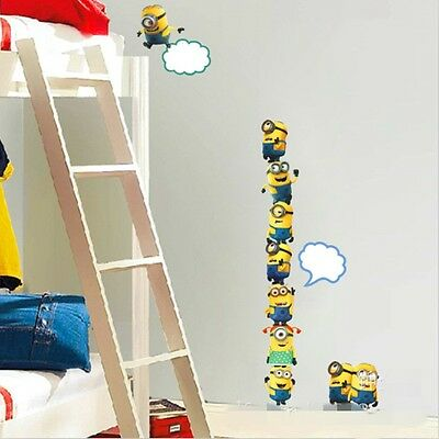 New Despicable Me Minions Removable Decal Mural DIY Kids Room Decor Wall Sticker