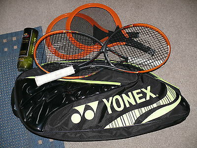 Yonex  Racket Bag , 2 head radical 25 tennis rackets plus 2 others.