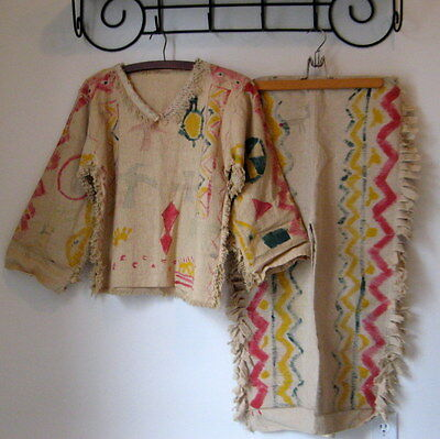 Antique Native American Indian Jacket & Pants / Ghost Dance Outfit ??