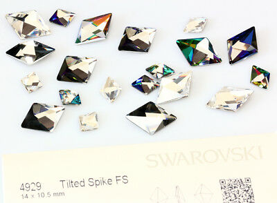 Genuine SWAROVSKI 4929 Tilted Spike Fancy Crystals * Many Sizes & Colors