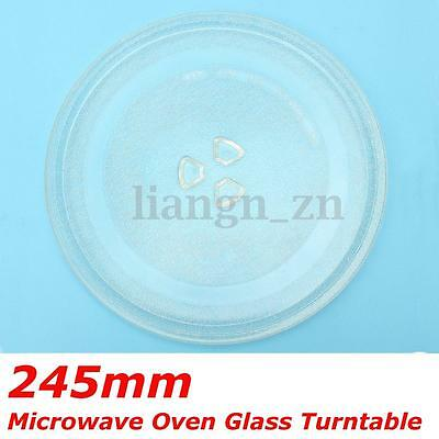 1Pc Clear Microwave Oven Turntable Glass Tray Glass Plate Accessories Dia 245mm