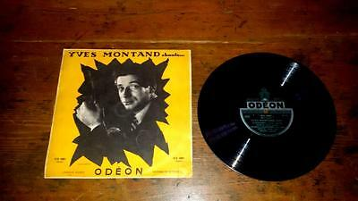 """YVES MONTAND - CHANTE... - 10"""" Odeon 1952 G/POOR Chanson Jazz Gainsbourg"""
