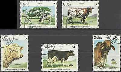 Timbres Animaux Vaches 2570/4 o lot 18657