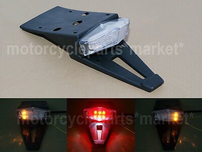 Universal Motorcycle Fender LED Brake Stop Rear Tail Turn Light Enduro Dirt Bike