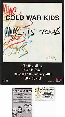 COLD WAR KIDS : CUTTINGS COLLECTION -adverts-