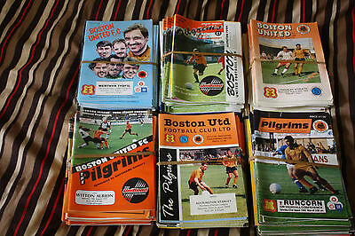 Job Lot of over 250 Boston United Football Programmes