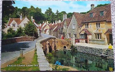 Old picture postcard of Castle Combe
