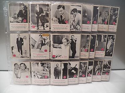 Rare Collectible 1960's Man From Uncle Scanlen's Trading Card Full Set Of 72