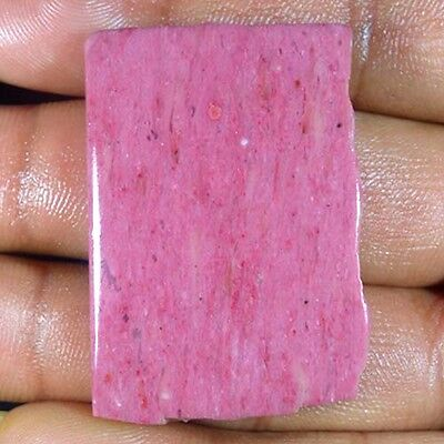 79.90Cts. NATURAL WONDERFUL PINK CALCY SLAB POLISHED ROUGH TOP LOOSE GEMSTONES