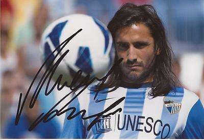 MALAGA: MARCOS ANGELERI SIGNED 6x4 ACTION PHOTO+COA