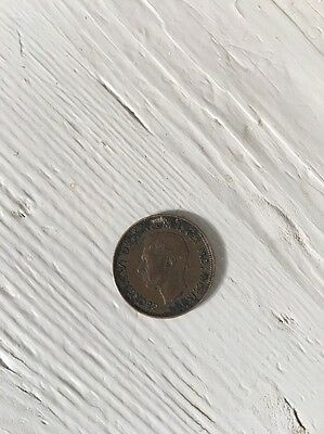 1947 Farthing Coin George Vl - 70th Birthday