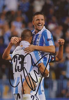 MALAGA: IGNACIO CAMACHO SIGNED 6x4 ACTION PHOTO+COA