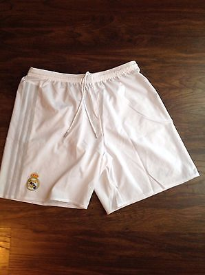 real madrid shorts home white large