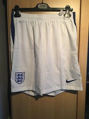 Nike Official England White Football Shorts - Large -BNWT - Fitness Running Gym