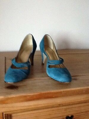 Marks and Spencer's Ladies Real Suede Shoes Size 8 42 Euro