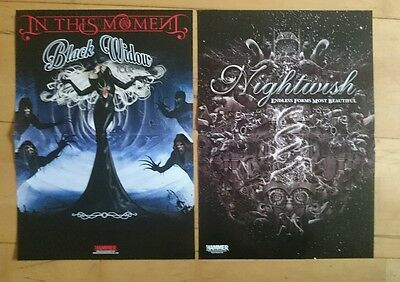 2x Double Sided Posters - Nightwish, In This Moment, Every Time I Die, Northlane