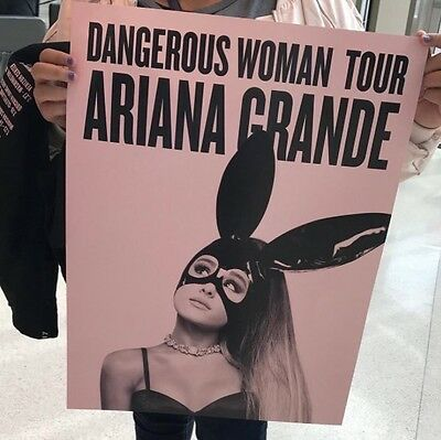 PRE ORDER - OFFICIAL Ariana Grande Dangerous Woman Tour Poster Bunny Ears