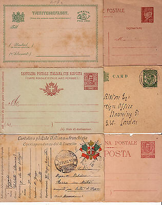 Italy / Great Britain / Sweden / France -  Stationery Cards Lot