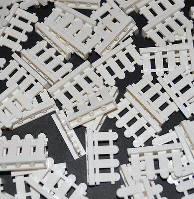 Lego Parts -30X White Picket Fences/city/house/garden/minifigure/bulk