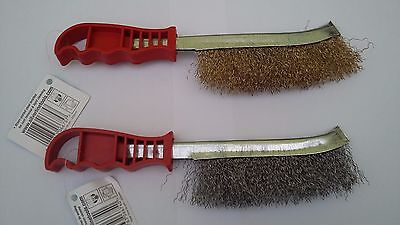 Brass Steel Wire Hand Brush Heavy Duty Rust Dirt Paint Remover Cleaning Metal