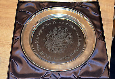 Lovely Caithness Royal Arms Plate Prince Charles & Lady Diana Spencer Limited