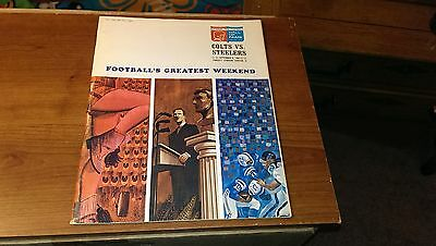 1964 September 6 Colts Vs Steelers Program Hall Of Fame Art Rooney Auto Signed