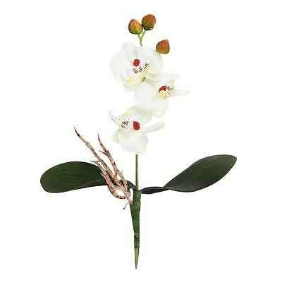 Triple Head Artificial Butterfly Orchid Silk Flower Party Home Wedding Decor A2