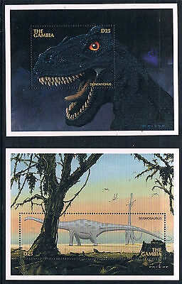 Gambia 1997 Dinosaurs 2x MS SG 2677 MNH
