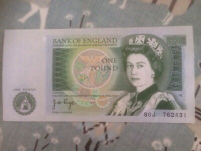 £1 Note Excellent Condition J B Page