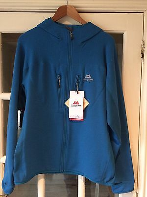 Mountain Equipment Pivot Hooded Jacket Large Lagoon Blue RRP £140