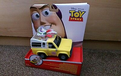 Disney Toy story Rare pull & go PIZZA PLANET TRUCK WITH BUZZ LIGHTYEAR