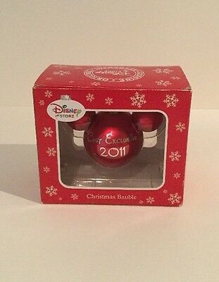 Disney Red Christmas Bauble Mickey Mouse Rare Cast Member Exclusive 2011