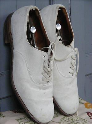 True Vintage John White all leather Brogues cricket shoes UK 9 ½
