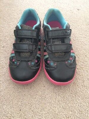 Clarks Girls Leather Trainers Size 11.5F