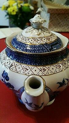 booths royal doulton real old willow teapot blue & white pattern antique vintage