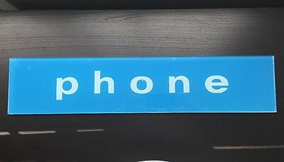 Glass Payphone Sign