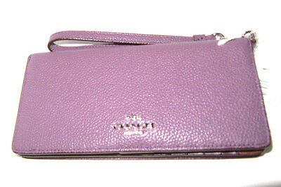 Coach Slim Wallet in Colorblock Leather 53759 Eggplant Multi NWT$150
