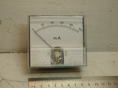 Panel Meter. Ammeter. 0 - 100 mA dc.