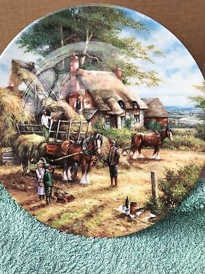 Wedgwood Country Days Plate Making the Hayrick by Chris Howells
