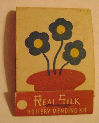vintage REAL SILK HOSIERY MILLS Mending Kit++ Indianapolis IND++ Match book++