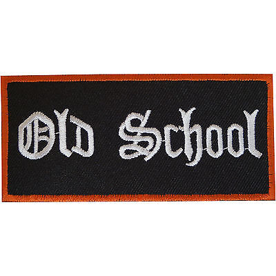 Embroidered Old School Patch Badge Iron / Sew On T Shirt Jeans Bag Clothes Retro