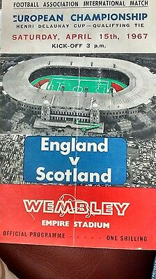 1967 ENGLAND v SCOTLAND, 15th April -European Championship- Henri Delaunay Cup