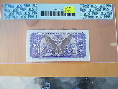 Series 692 50 Cent  Military Payement Certificate Payement Pcgs 66 Ppq