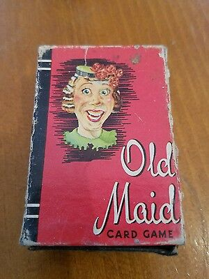 Vintage Whitman Old Maid Mini Card Deck & Box Complete