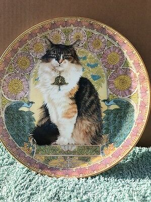 Cats Around the World Danbury Mint plate Agneatha in France