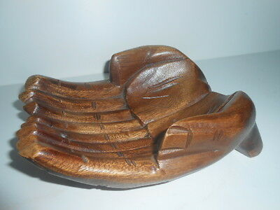 Solid Wood Hand Carved Pair of Hands Wood Ornament / PERFECT, SEE PHOTOS