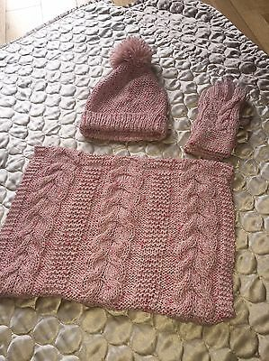 girls hat scarf and gloves set