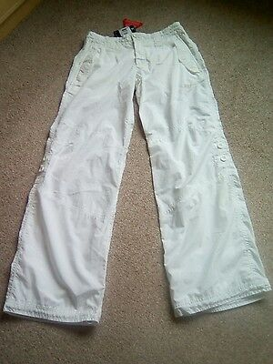 Ladies white combat style Nike trousers, size 12