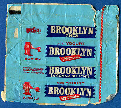 Perfetti Brooklyn. Wrapper from Chewing / Bubble Gum.
