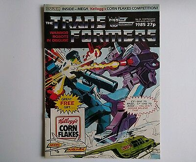 Transformers comic UK issue 25 Marvel 1985 G1